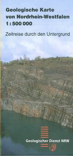 Geologische Karte von Nordrhein-Westfalen 1:500000 von Geologischer Dienst NRW