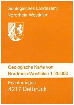Geologische Karten von Nordrhein-Westfalen 1:25000 / Delbrück von Dahm-Arens,  Hildegard, Michel,  Gert, Rehagen,  Hans W, Skupin,  Klaus, Vogler,  Hermann