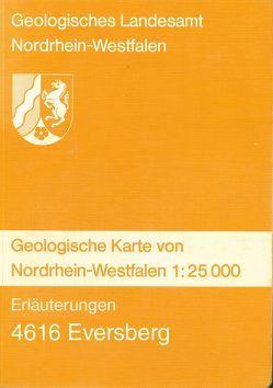 Geologische Karten von Nordrhein-Westfalen 1:25000 / Eversberg von Dahm,  Hans D, Ebert,  Artur, Scherp,  Adalbert