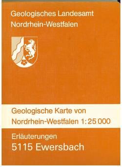 Geologische Karten von Nordrhein-Westfalen 1:25000 / Ewersbach von Reinhardt,  Manfred, Suchan,  Karl H, Thünker,  Michael, Vieth-Redemann,  Angelika, Wilder,  Heinz