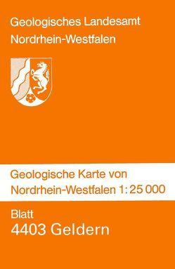 Geologische Karten von Nordrhein-Westfalen 1:25000 / Geldern von Klostermann,  Josef, Nötting,  Joachim, Paas,  Wilhelm, Rehagen,  Hans W