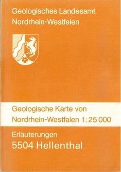 Geologische Karten von Nordrhein-Westfalen 1:25000 / Hellenthal von Reinhardt,  Manfred, Ribbert,  Karl H, Schalich,  Jörg, Vieth-Redemann,  Angelika