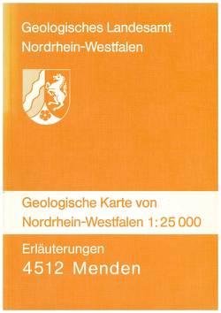 Geologische Karten von Nordrhein-Westfalen 1:25000 / Menden von Krusch,  Paul