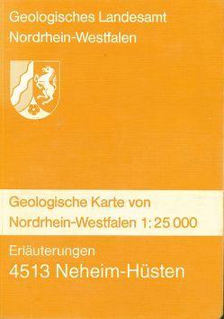 Geologische Karten von Nordrhein-Westfalen 1:25000 / Neheim-Hüsten von Kühne,  Friedrich, Pfeffer,  Paul