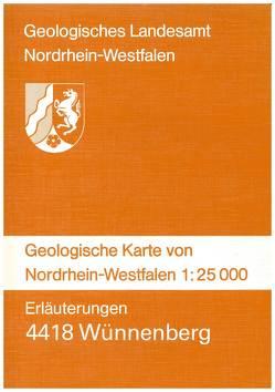 Geologische Karten von Nordrhein-Westfalen 1:25000 / Wünnenberg von Dahm-Arens,  Hildegard, Michel,  Gert, Skupin,  Klaus, Vieth-Redemann,  Angelika, Weber,  Peter