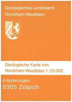 Geologische Karten von Nordrhein-Westfalen 1:25000 / Zülpich von Pfeffer,  Paul, Schröder,  Eckart
