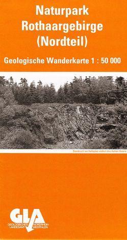 Geologische Wanderkarte des Naturparks Rothaargebirge (Nordteil) von Mueller,  Horst