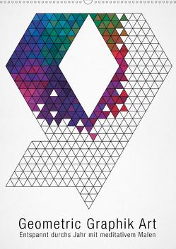 Geometric Graphik Art (Wandkalender 2021 DIN A2 hoch) von bilwissedition.com Layout: Babette Reek,  Bilder:
