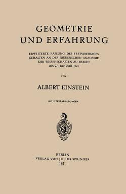 Geometrie und Erfahrung von Einstein,  Albert