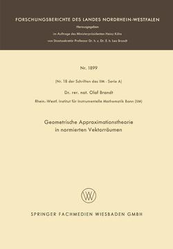 Geometrische Approximationstheorie in normierten Vektorräumen von Brandt,  Olaf
