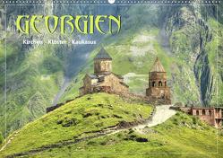 Georgien – Kirchen Klöster Kaukasus (Premium, hochwertiger DIN A2 Wandkalender 2020, Kunstdruck in Hochglanz) von Stamm,  Dirk