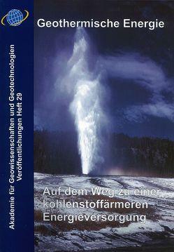 Geothermische Energie von Kosinowski,  Michael, Quade,  Horst, Ranke,  Ulrich
