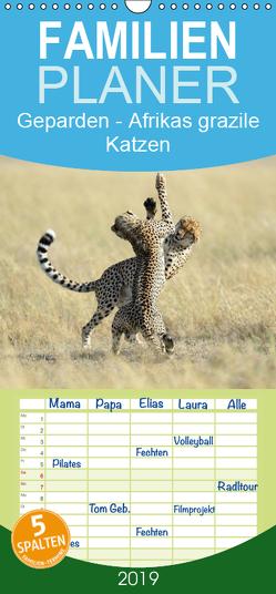 Geparden – Afrikas grazile Katzen – Familienplaner hoch (Wandkalender 2019 , 21 cm x 45 cm, hoch) von Jürs,  Thorsten