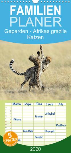 Geparden – Afrikas grazile Katzen – Familienplaner hoch (Wandkalender 2020 , 21 cm x 45 cm, hoch) von Jürs,  Thorsten