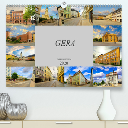 Gera Impressionen (Premium, hochwertiger DIN A2 Wandkalender 2020, Kunstdruck in Hochglanz) von Meutzner,  Dirk