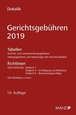 Gerichtsgebühren – 2019 von Dokalik,  Dietmar