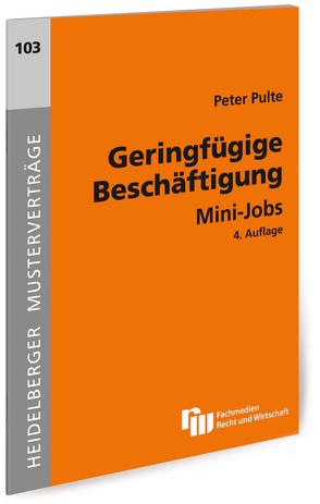 Geringfügige Beschäftigung von Pulte,  Peter