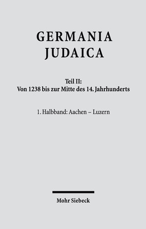 Germania Judaica von Avneri,  Zvi
