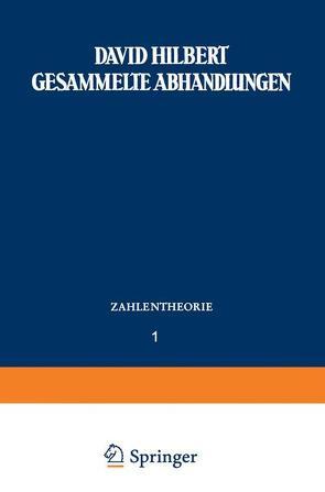 Gesammelte Abhandlungen von Hilbert,  David