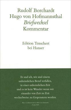 Gesammelte Briefe von Borchardt,  Rudolf, Hofmannsthal,  Hugo von, Schuster,  Gerhard