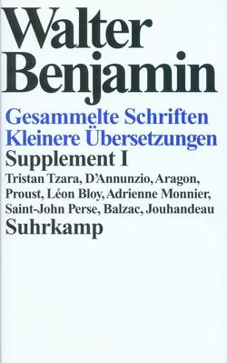 Gesammelte Schriften von Adorno,  Theodor W., Benjamin,  Walter, Scholem,  Gershom, Tiedemann,  Rolf