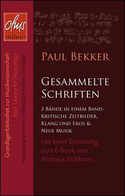 Gesammelte Schriften von Bekker,  Paul