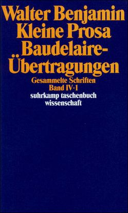Gesammelte Schriften von Benjamin,  Walter, Rexroth,  Tillman, Schweppenhäuser,  Hermann, Tiedemann,  Rolf