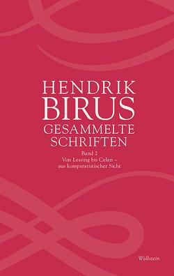 Gesammelte Schriften von Birus,  Hendrik