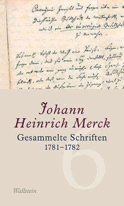 Gesammelte Schriften von Leuschner,  Ulrike, Merck,  Johann Heinrich
