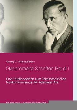 Gesammelte Schriften Band 1 von Bürger,  Peter, Heidingsfelder,  Georg D.