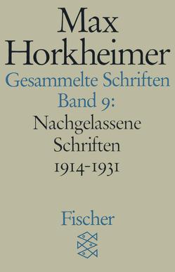 Gesammelte Schriften in 19 Bänden von Horkheimer,  Max, Schmidt,  Alfred