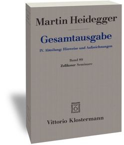 Zollikoner Seminare von Heidegger,  Martin, Trawny,  Peter