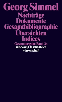 Gesamtausgabe in 24 Bänden von Rammstedt,  Angela, Rammstedt,  Otthein, Schullerus,  Erwin, Simmel,  Georg