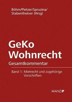 GeKo Wohnrecht von Böhm,  Helmut, Pletzer,  Renate, Spruzina,  Claus, Stabentheiner,  Johannes