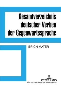 Gesamtverzeichnis deutscher Verben der Gegenwartssprache von Mater,  Erich