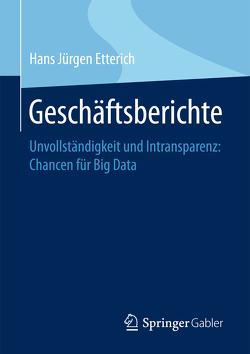 Geschäftsberichte von Etterich,  Hans Jürgen