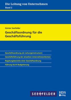 Geschäftsordnung für die Geschäftsführung von Seefelder,  Günter