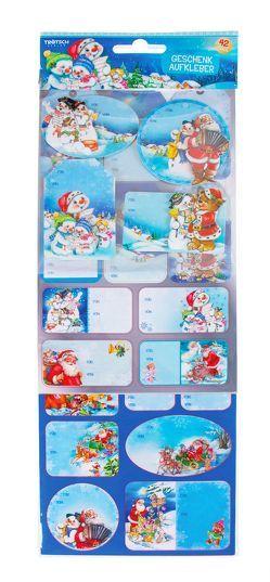 Geschenkaufkleber Superset Weihnachten Schneemann Sticker