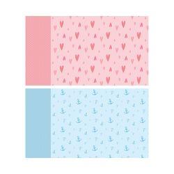 Geschenkpapier 6 Bögen A2: Edel Hochwertiges Geschenkpapier, Packpapier, Bastelpapier, Geschenkverpackung Set für jeden Anlass blau & rosa von Wirth,  Lisa