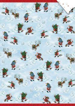 Geschenkpapier-Bogen – Weihnachtsmänner von Wilson,  Henrike