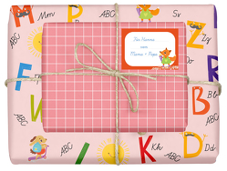 Geschenkpapier-Set für Kinder: Einschulung (für Mädchen)