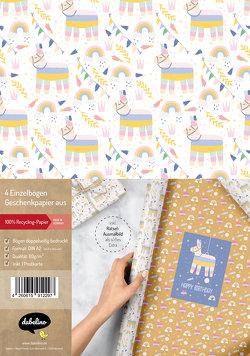 Geschenkpapier-Set für Kinder: Lama-Pinata