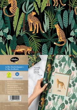 Geschenkpapier-Set: Leopard (vegan, Blauer Engel, Recyclingpapier)