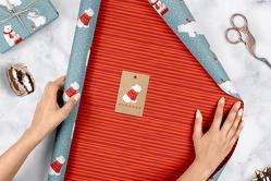 Geschenkpapier Set Weihnachten: Eisbär (für Kinder)
