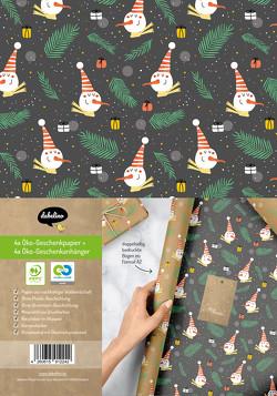 Geschenkpapier Set Weihnachten für Kinder: Schneemann