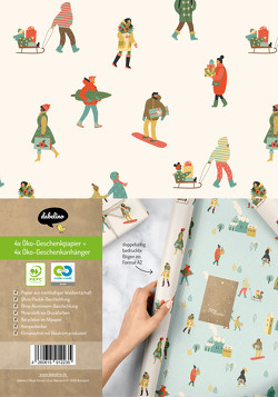 Geschenkpapier Set Weihnachten: Wintertrubel (Diversity, Diversität) für Kinder und Erwachsene