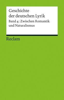 Geschichte der deutschen Lyrik von Sorg,  Bernhard