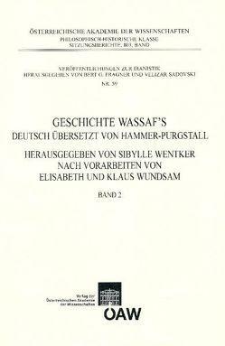 Geschichte Wassaf's Band 2 von Fragner,  Bert G., Sadovski,  Velizar, Wentker,  Sibylle