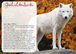 """Geschichten Karten """"Zwei Wölfe"""" von Zintenz"""