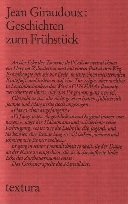 Geschichten zum Frühstück von Giraudoux,  Jean, Müller,  Ulrich Friedrich